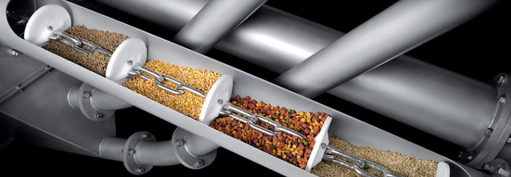 Dust tight, enclosed, versatile conveyors for powders, granules & sludges