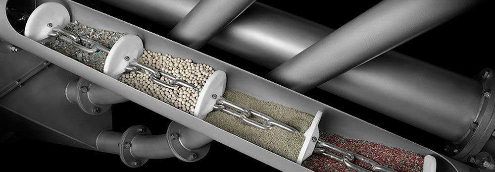 Schrage Tube Chain Conveyor For Bulk Materials | Renby Ltd