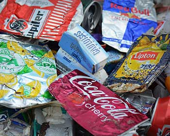 Selection of waste materials