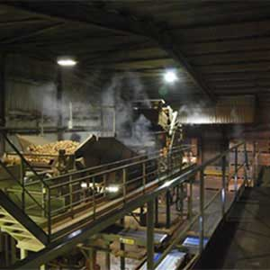 Controlling dust in the factory